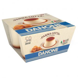 Pannacota caramelo danone depostre p-4x100gr