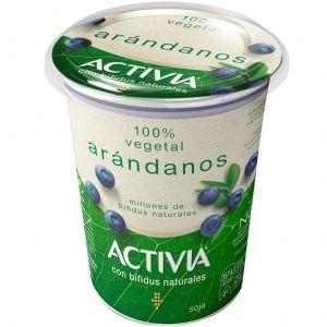 Yogur vegetal arandanos activia big pot 400g