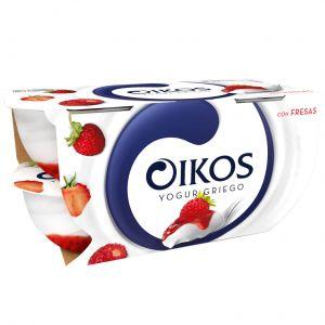 Yogur c/fresas oikos p-4x 110gr
