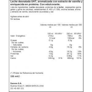 Batido proteico vainilla yopro minibrick 330ml