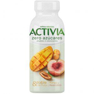 Yogur liq 0% mang-meloc activia 245gr