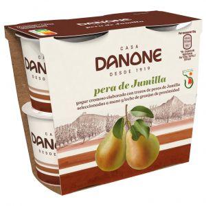 Yogur con pera jumilla danone p-4x 115gr