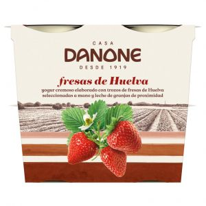 Yogur c/fresas jumilla danone p-4x115gr