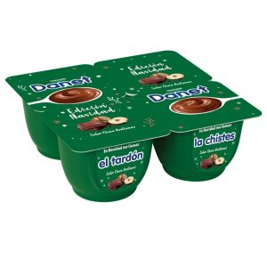 Natilla chocolate avellanas danet p-4x 120gr