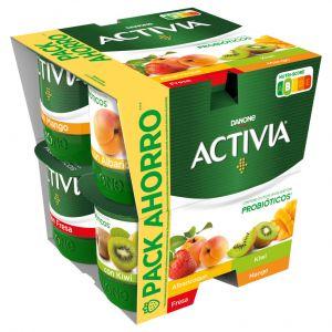 Yogur frutas albaricoque,kiwi y mango activia p-8x 120gr