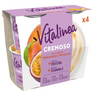 Yogur cremoso c/melocoton vitalinea p-4x 115g
