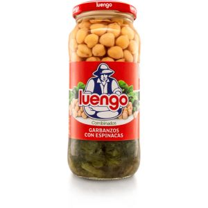 Garbanzos con espinacas luengo tarro 570g