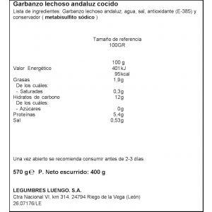 garbanzos andaluces cocidos luengo 570g
