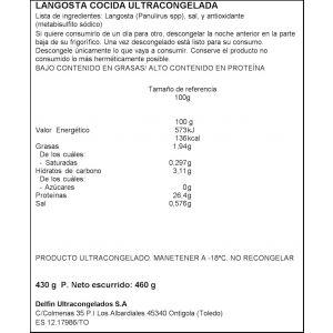 Langosta cocida  delfin  350/400g