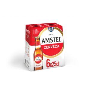 Cerveza amstel botella p6x25cl