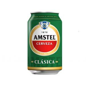 Cerveza clasica amstel lata 33cl