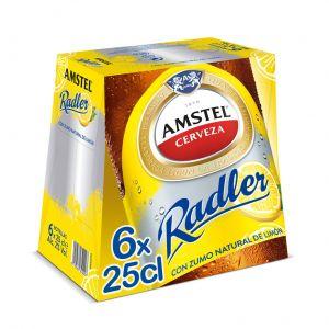 Cerveza radler amstel p6x25cl
