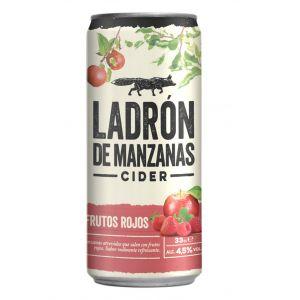 Cider frutos rojos ladron de manzanas lata 33cl