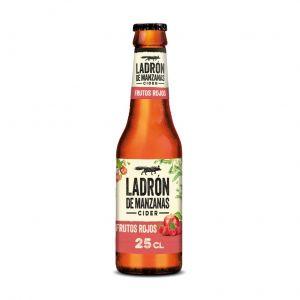 Cider sabor frutos rojo ladron de manzanas botella de 25cl