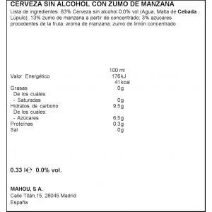 Cerveza  manzana san miguel lata 33cl
