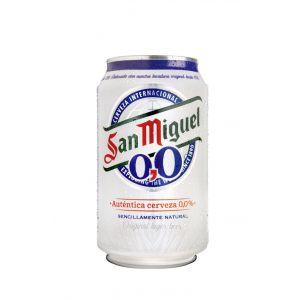 Cerveza s/alc.0,0%  san miguel lata 33cl
