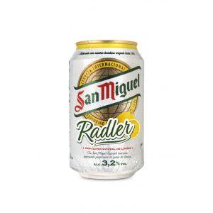 Cerveza radler san miguel lata 33cl