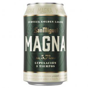 Cerveza magna san miguel lata 33cl