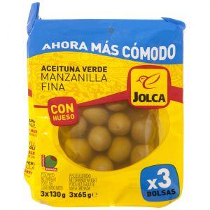 Aceituna c/h manzanilla jolca bolsa p3x65gr
