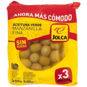 Aceituna s/h manzanilla jolca bolsa p3x50gr