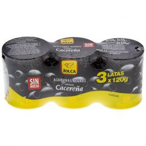 Aceituna negra cacereña jolca lata p3x50gr