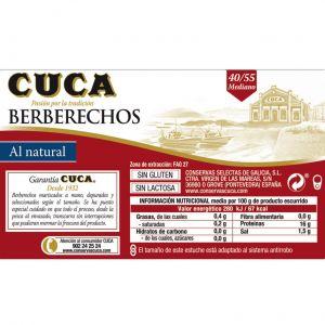Berberecho  natural cuca 40/55 ol120 189g ne