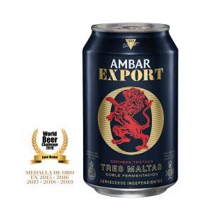 Cerveza export ambar lata 33cl