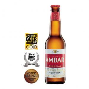 Cerveza celiacos ambar botella 33cl