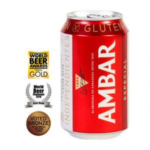 Cerveza celiacos ambar lata 33cl
