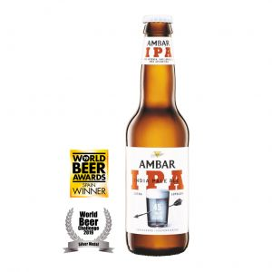 Cerveza ipa ambar botella 33cl