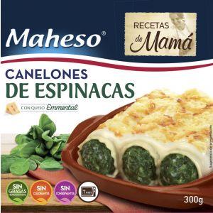 Canelones espinacas con bechamel maheso 300g