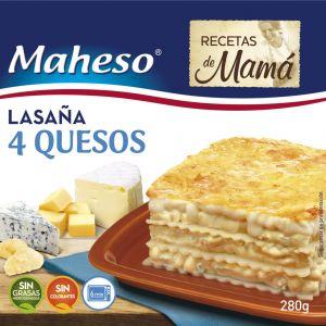 Lasaña 4 quesos maheso 280g