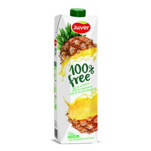 Zumo 100% free de piña juver  brik 1l