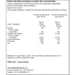 Zumo ecologico piña valfrutta 1l