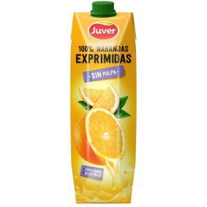 Zumo naranja 100% exprimido sin pulpa juver prisma 1l