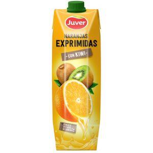 Zumo naranja 100% exprimido con kiwi juver 1l