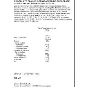 Chocolate blanco con lacasitos lacasitos-lacasa  100g