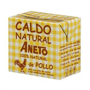 Caldo natural de pollo aneto 500ml