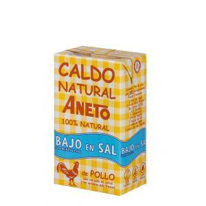 Caldo natural de pollo  bajo en sal aneto 1l