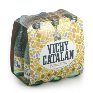 Agua mineral c/gas  vichy catalan bot p6 25cl