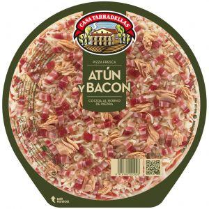 Pizza fresca de atún y bacon casa tarradellas 425g
