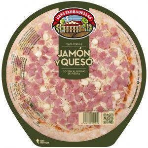 Pizza fresca de jamón y queso casa tarradellas 425g