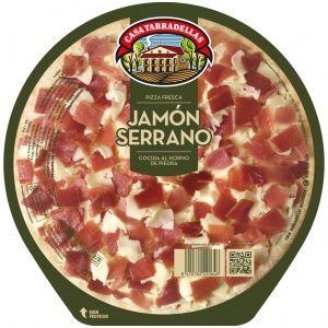 Pizza fresca de jamón serrano casa tarradellas 400g