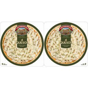 Pizza fresca 4 quesos casa tarradellas pack de 2 unidades de 225g