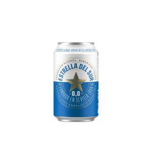 Cerveza s/alc 0,0% estrella del sur lata 33cl