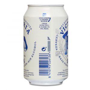 Cerveza sin alcohol victoria lata 33cl