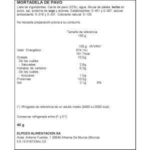 Mortadela pavo el pozo lonchas maxi pozo 340g