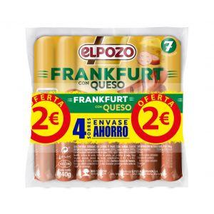 Salchichas frankfurt c/queso el pozo p4x140g