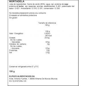 Mortadela suprema el pozo lonchas 150gr