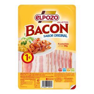 Bacon ahumado el pozo lonchas 100g pvp 1€